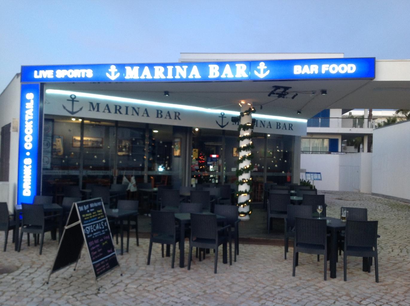 Marina Bar Lagos Bar in Lagos Portugal Christmas Lagos Algarve 1 - Sports Bar Lagos and Restaurant Bar Lagos Algarve portugal
