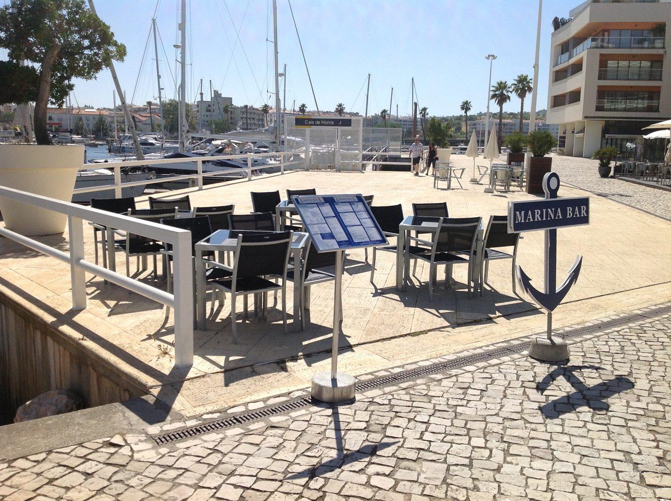 Marina Bar Lagos Bar in Lagos Portugal Outside seating with Views of the Marina Lagos Algarve 1 - Bar Lagos Algarve portugal
