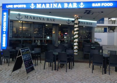 Marina Bar Lagos Outside 1 (3) - Sports Bar and Restaurant Bar Lagos Algarve portugal